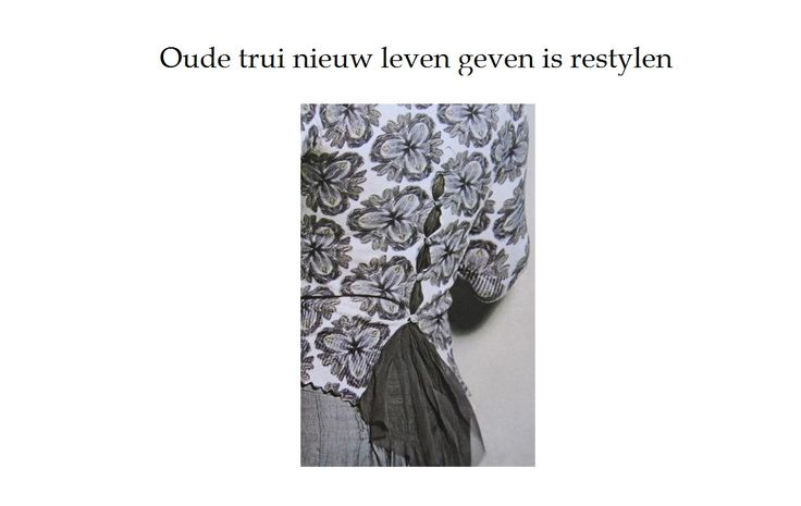 Oude trui nieuw leven geven is restylen en dat doe je dus met een oud saai truitje. Wellicht vind je dit een oplossing voordat je het de deur uit doet.