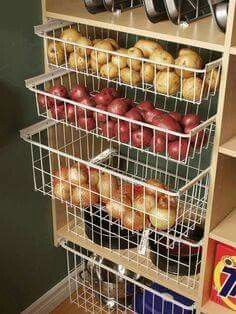 Wire baskets for potatoes, etc
