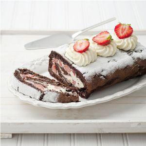 Chocoladerol met aardbeien - Allerhande