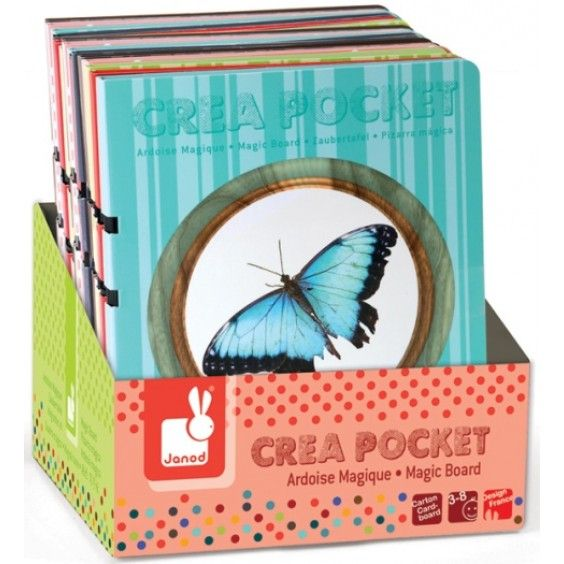 A great stocking stuffer; Janod's 'Crea Pocket' Magic Boards open up like a book and have an erasable drawing board and a 'magic pen' on the inside. Once you've finished your masterpiece and want to start again, just close the 'book', tap the board on the table, then watch the pattern magically disappear! #Janod #Christmas2014 #art #drawing