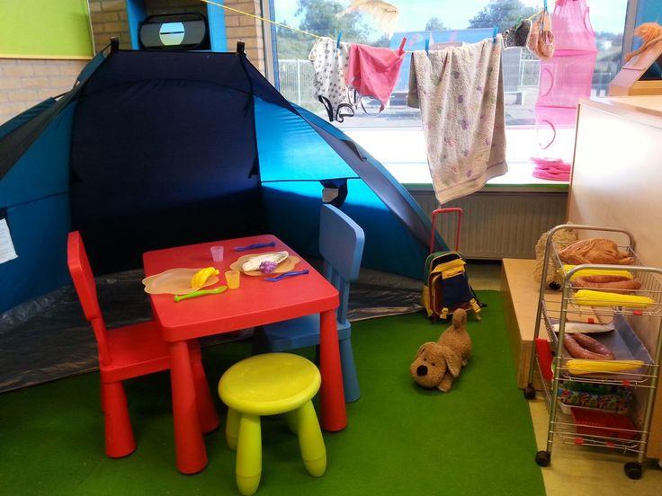 Camping met bbq