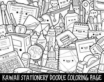 Fruits & Vegetables Doodle Coloring Page Printable | Cute ...