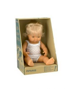 Baby Doll Caucasian Girl 38cm $59.95 www.sweetcreations.com.au  #sweetcreations #baby #toddler #kids #toys #play #bathtime #dinnertime #gifts
