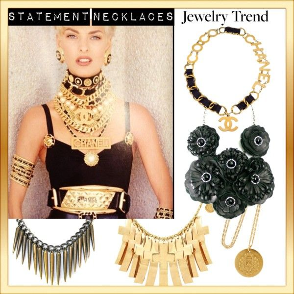 """""""Jewelry Trend - Statement Necklaces"""" by aquaskye on Polyvore  Details: http://jewellerybykaren.com/boutique/necklaces/necklace-756n"""