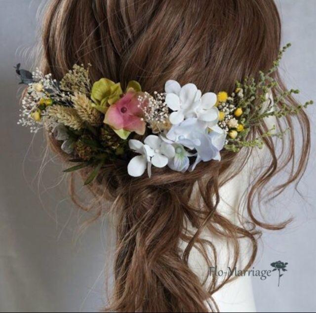 グリーン・ホワイト・コットンブルーのヘッドドレス♡ | ハンドメイドマーケット minne