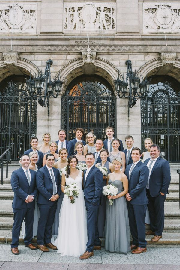 8d48c73355f0 Mismatched Bridesmaids in Grey for a City Wedding | Borrowed, old ...