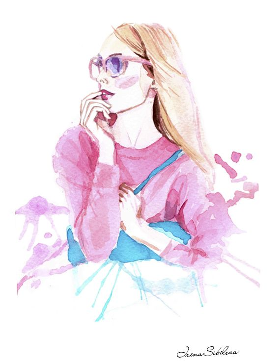 Inspired by spring look from JCREW. Illustration by Irina Sibileva.