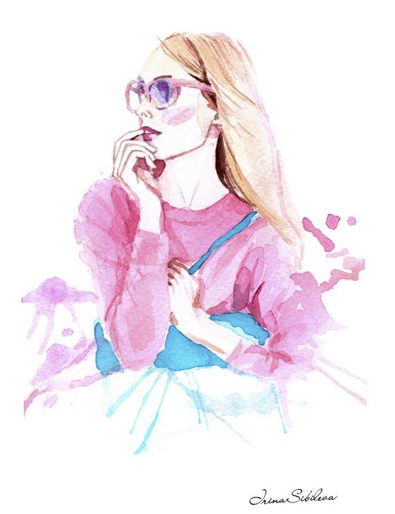 Inspired by spring look from JCREW. Illustration by Irina Sibileva.