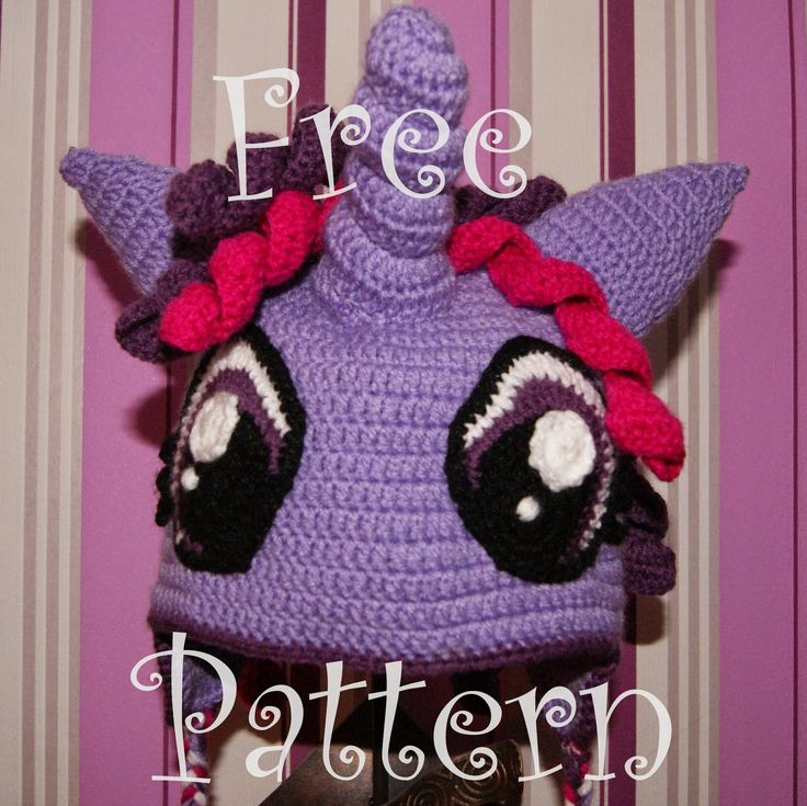 Drzwi od podwórza - My little pony hat - Twilight Sparkle - FREE PATTERN || Czapka z kucykiem My little pony - wzór
