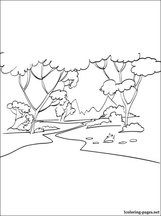 Forest Coloring Page Coloring Pages Stitches Color