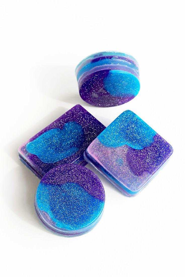 Space soap / full of stars soaps / DIY soap / cosmic idea / Lili Natura – Kreatywnie i inspirująco z nutą natury