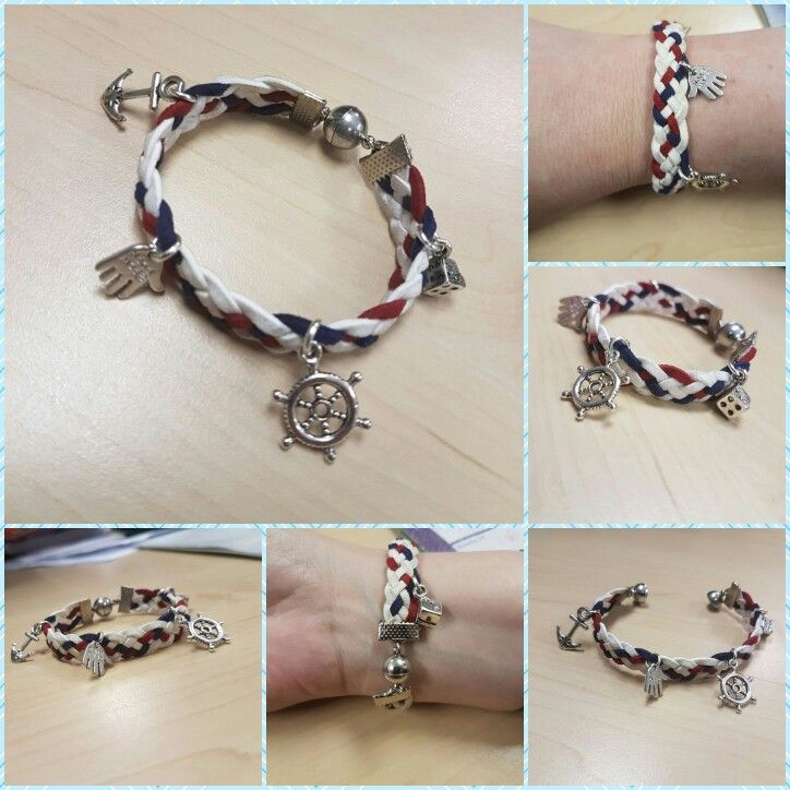 sailor style braided braclet with magnetic clasp#diymensjewelry #DIY#unisex