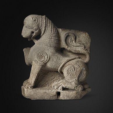 Antiquities Exhibition - Lion, Buff Sandstone, Late 11th Century, Madhya Pradesh
