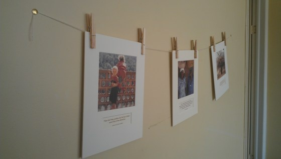 Clothesline Picture Hanging
