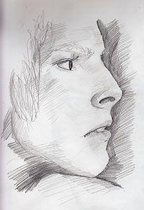 Sketch of David Bowie