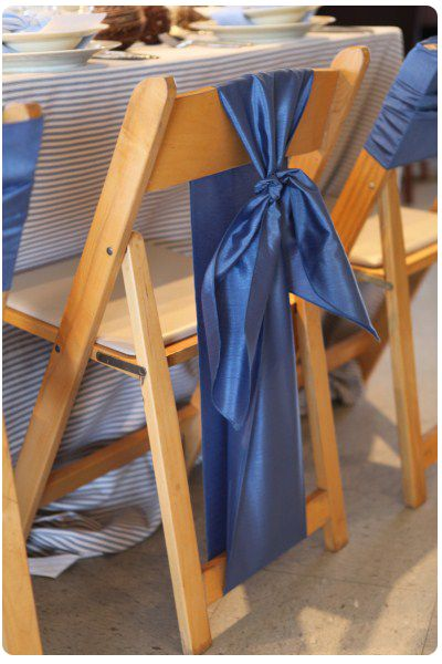 knotted chair sashes | Chair Sash Ideas Pt 2: Folding Chairs | Encore Events