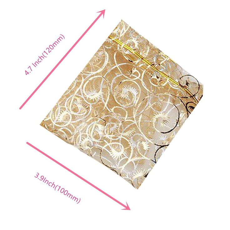 Amazon.com: Organza Wedding Favour Bags 10x12cm /3.9''x4.7'' set of 100 Beautiful Gold Champagne Eyelash Organza Drawstring Pouches Jewelry Party Wedding Favor candy Gift Bags Pouch Bags (gold 3.9''x4.7''): Home & Kitchen
