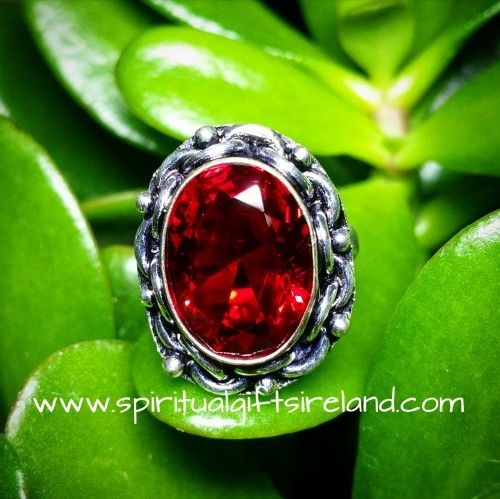 Handcrafted Red Garnet 925 Ring Visit our store at www.spiritualgiftsireland.com  Follow Spiritual Gifts Ireland on www.facebook.com/spiritualgiftsireland www.instagram.com/spiritualgiftsireland www.etsy.com/shop/spiritualgiftireland	  We are also featured on Tumblr