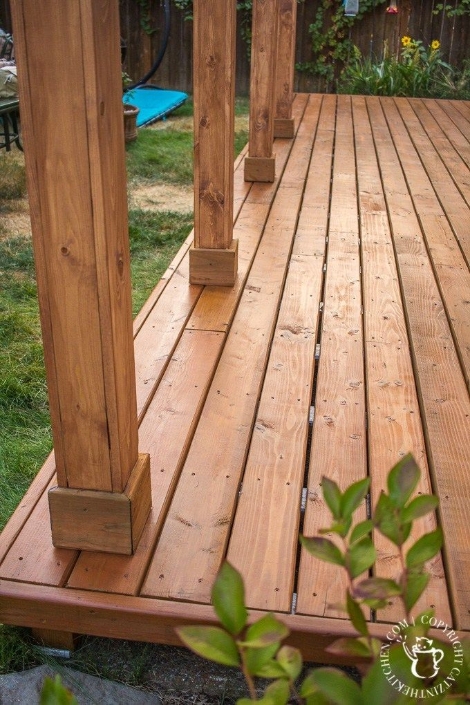 Diy Turning A Concrete Slab Into A Covered Deck Concrete Slab Patio Patio Deck Designs Deck Over Concrete