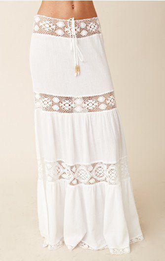 Whoa, it's a long mini skirt - hippie style...