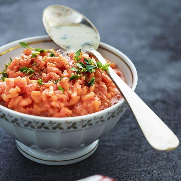 Risotto med rødbeder og gorgonzolasauce