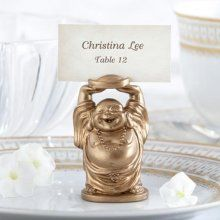 Asian Theme Wedding Favors......Laughing Buddha Place Card Holders