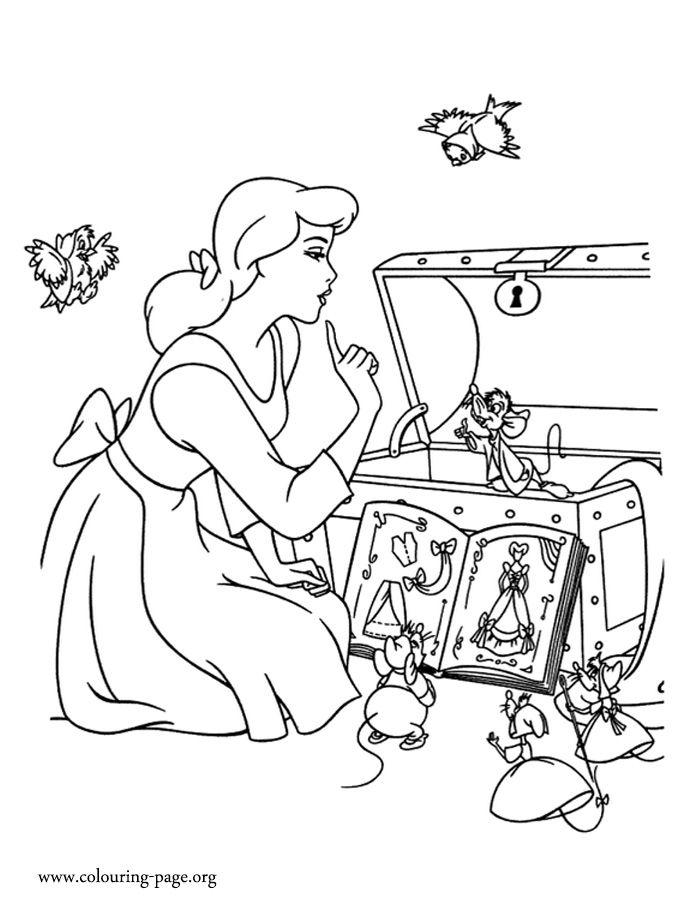 54 best Cinderella ~ Disney Coloring Pages images on Pinterest ...