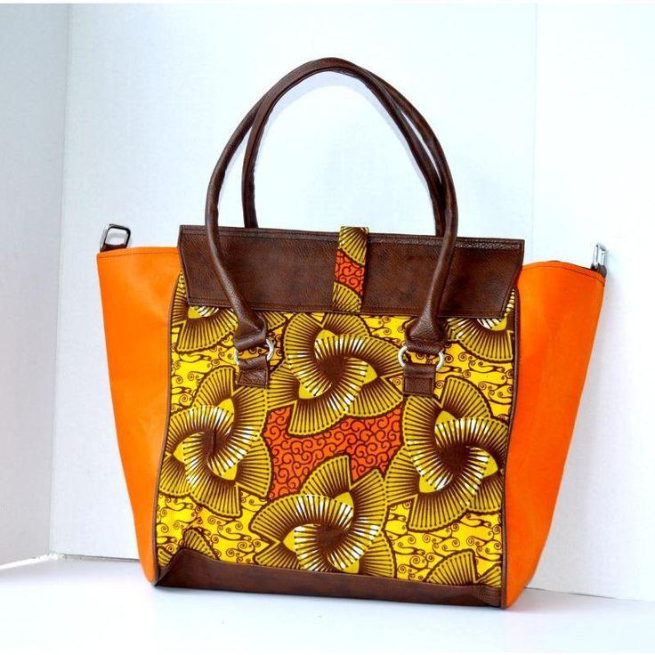 Orange African Print Bag - Zabba Designs African Clothing Store