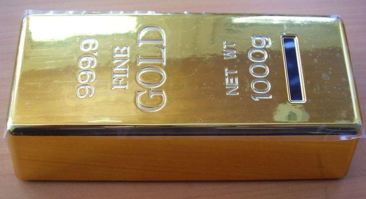 moneybox Alcancia Lingote Oro PVC #moneybox