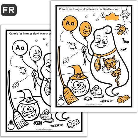 GRATUIT / FREE L'enfant colorie les images dont le nom contient le son A.