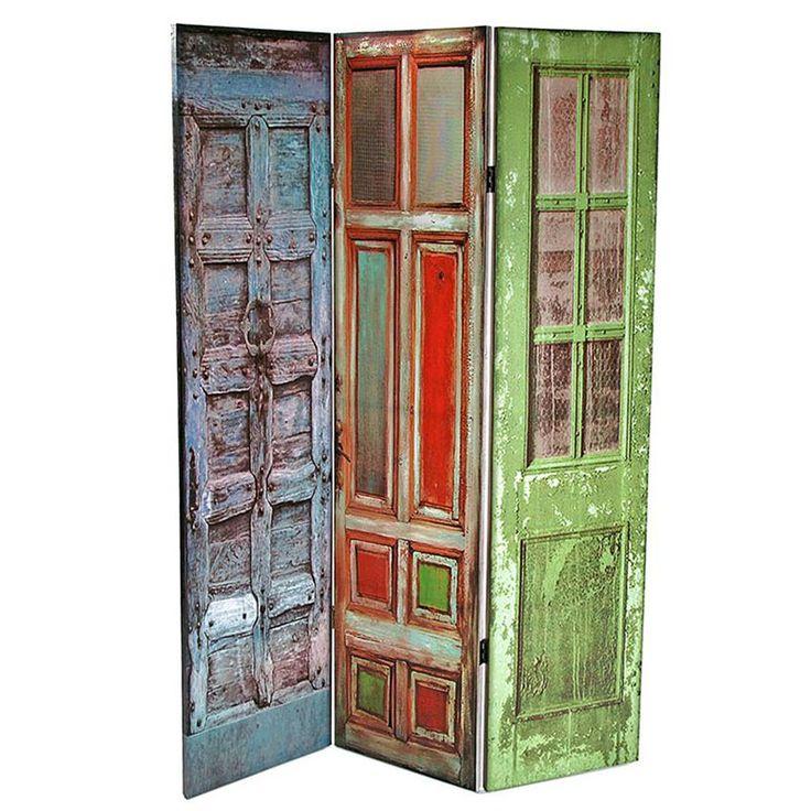 17 best images about biombos hechos con puertas screens - Puertas de biombo ...