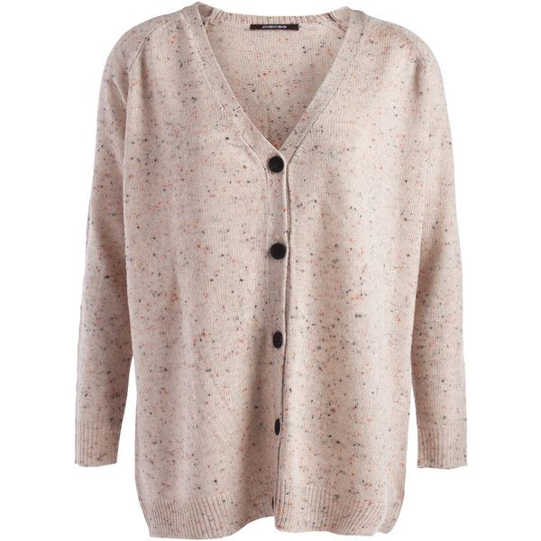 PIECES Elba L/S Cardigan (€27) ❤ liked on Polyvore featuring tops, cardigans, nude, cardigan top, brown long sleeve top, v-neck tops, long sleeve tops and long sleeve cardigan