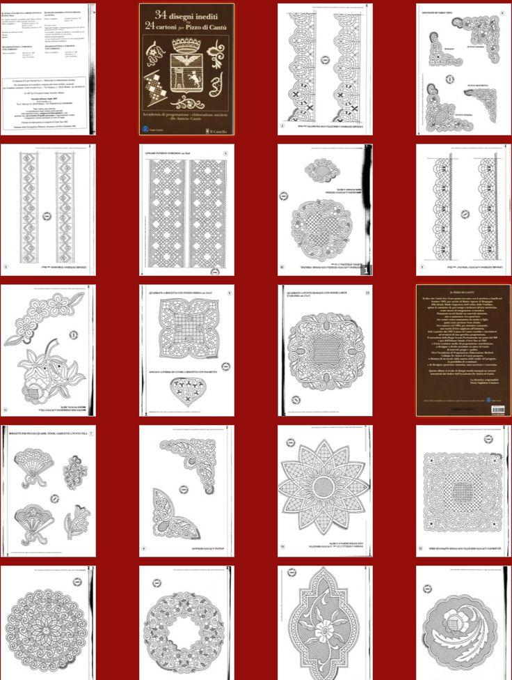 """""""34 Disegni inediti su 24 Cartoni per Pizzo di Cantu""""-lace book"""
