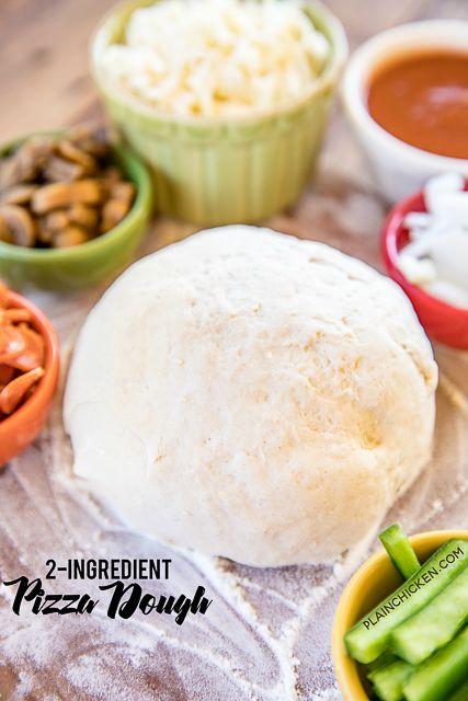 Pizzateig mit 2 Zutaten – Pizzateig mit griechischem Joghurt