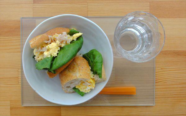 今日の200円ランチはささみ卵サンドです!素朴な美味しさ(^q^)♪