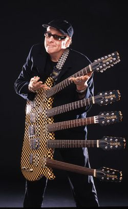 Rick Nielsen guitars WOW!! 5 necks, I have enough trouble with 1.