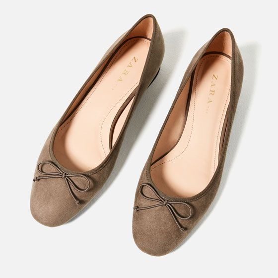 Image 4 of SQUARE HEEL BALLERINAS from Zara