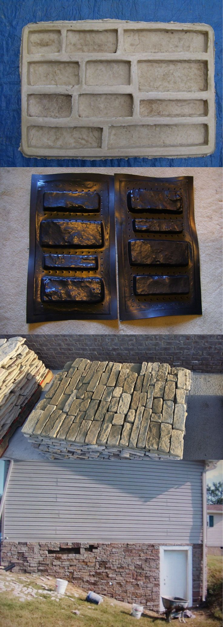 Decorative Stepping Stones 118863: Ledgestone Veneer Concrete Latex Rubber Mold.Plus 1 Free Ledgestone Plastic Mold -> BUY IT NOW ONLY: $139 on eBay!
