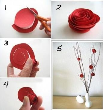 Preciosas flores de papel #pasoapaso #manualidades
