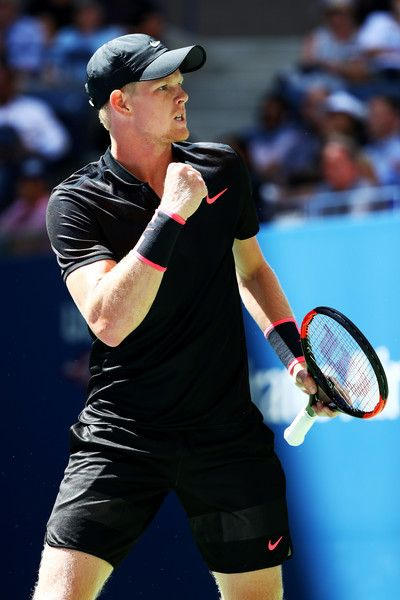 Kyle Edmund of Great Britain reacts during his third round match against Denis Shapovalov of Canada on Day Five of the 2017 US Open at the USTA Billie Jean King National Tennis Center on September 1, 2017 in the Flushing neighborhood of the Queens borough of New York City.