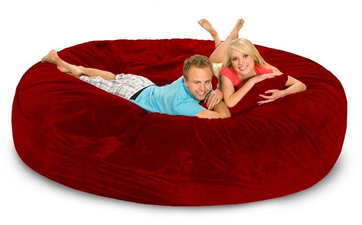 8 ft Red Bean Bag Bed