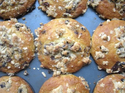 Choclate Chunk Muffins with Cocoa Nib Streusel Recipe on Yummly