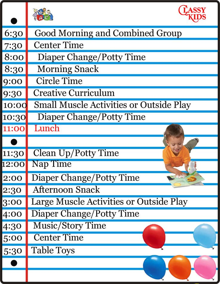17 Best Ideas About Daycare Schedule On Pinterest Home