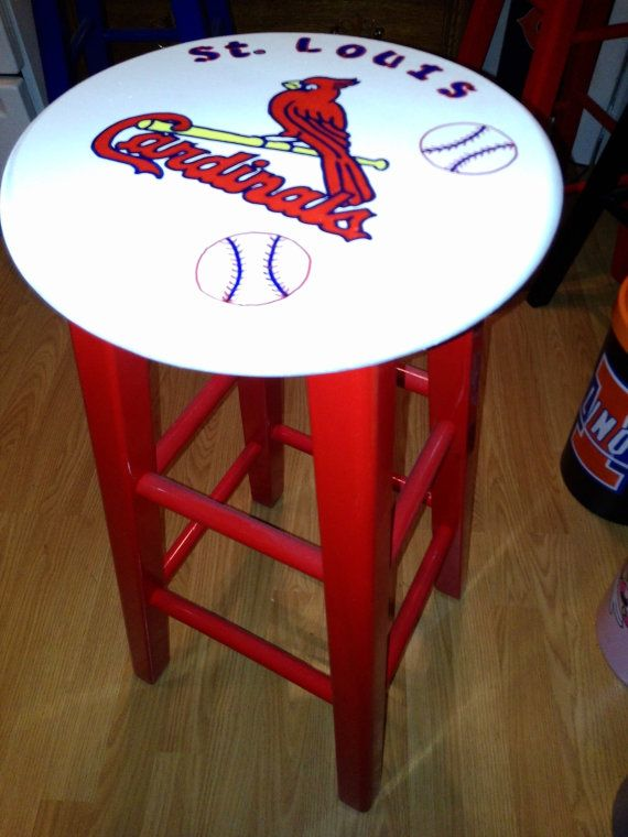 St Louis Cardinals Bar Stool by SportsLockers on Etsy