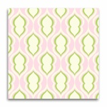 Potential fabric for bumper pad exterior...pink & green nursery