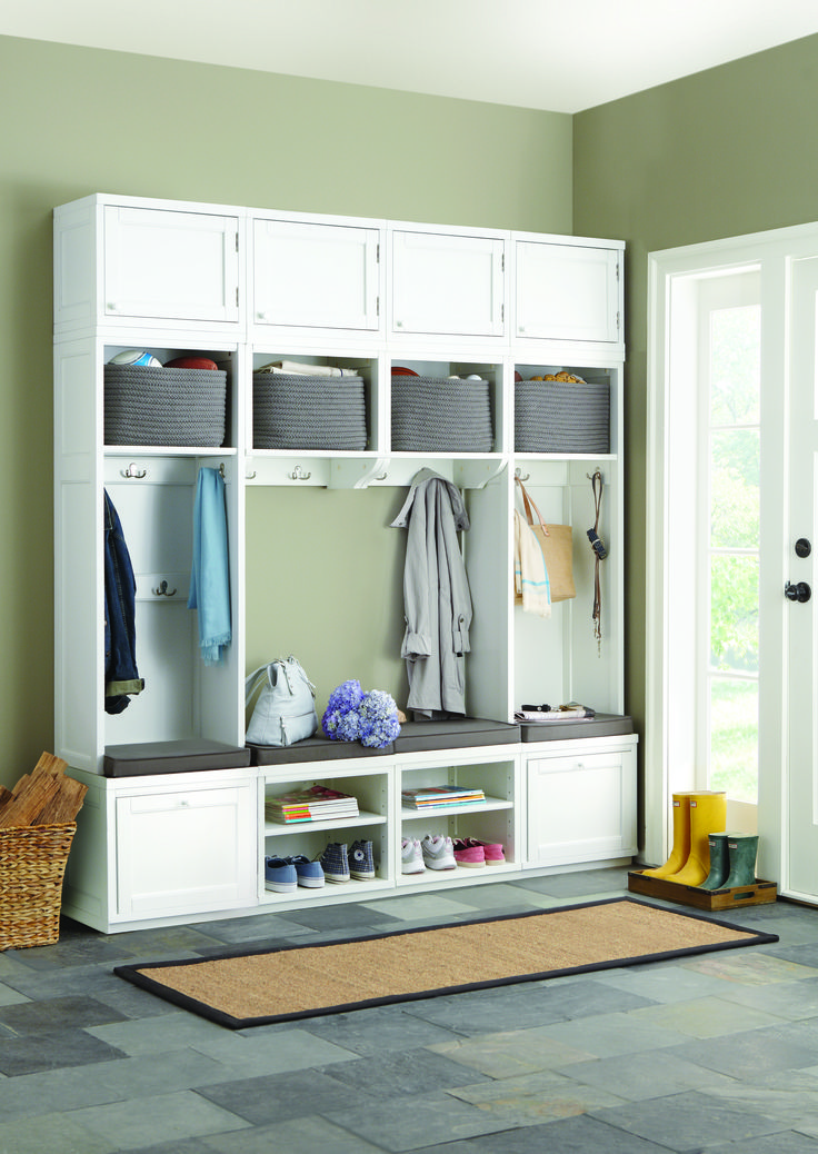 Mudroom Storage Systems : Keep shoes jackets gloves within reach and out