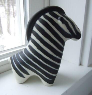 vintage Arabia Finland modern zebra - Taisto Kaasinen