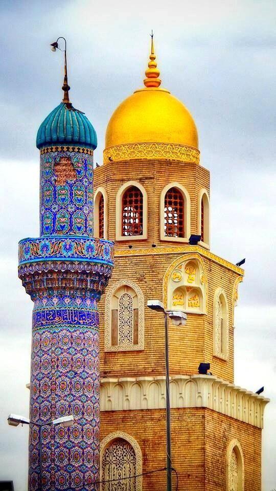 Kufa Great Mosque, one of the earliest in the world, Najaf, Iraq مسجد الكوفة أحد أقدم المساجد في العالم