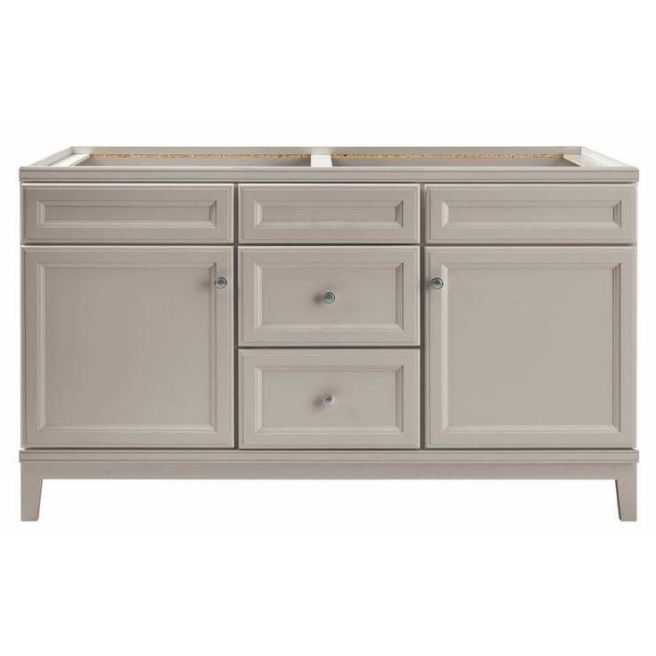 diamond freshfit calhoun 60 in cloud gray bathroom vanity on lowes vanity id=98339