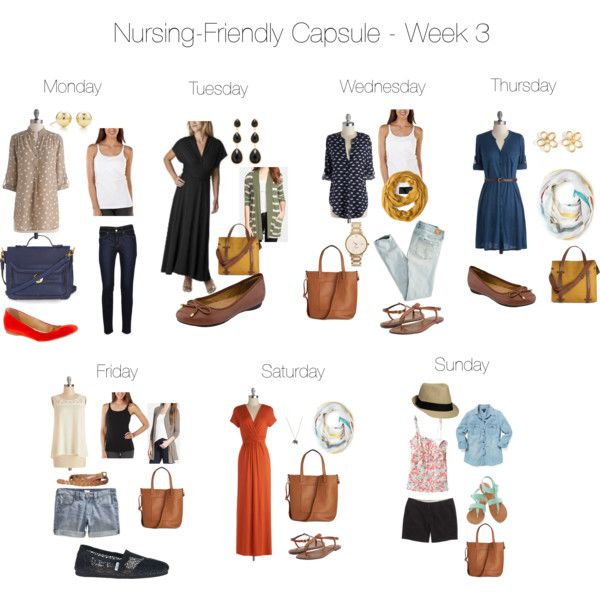 """Nursing-Friendly Capsule Wardrobe - Week 3"" by pearlsandcupcakes on Polyvore"